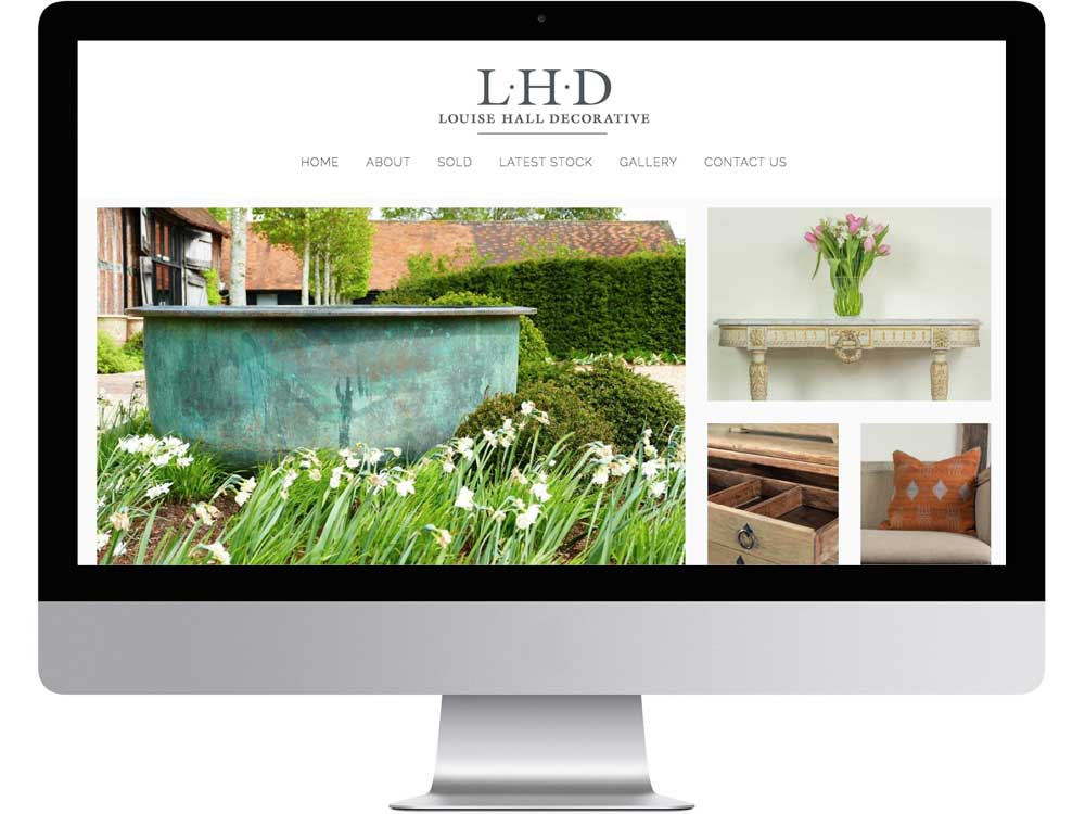 Henley on Thames garden and interior website design