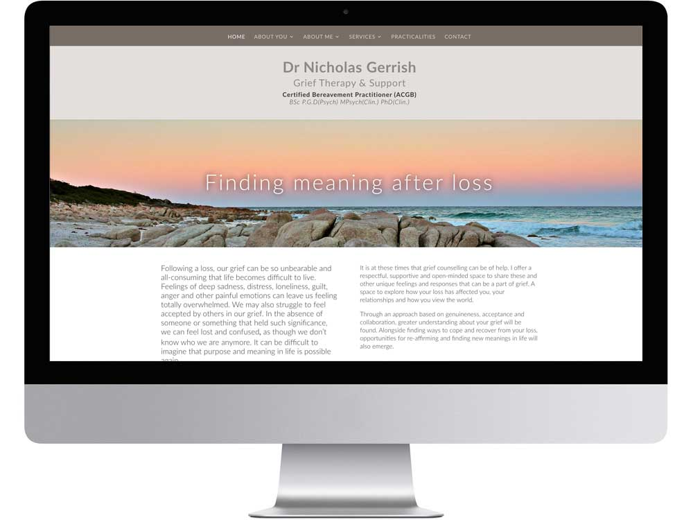 Counselling website design and support